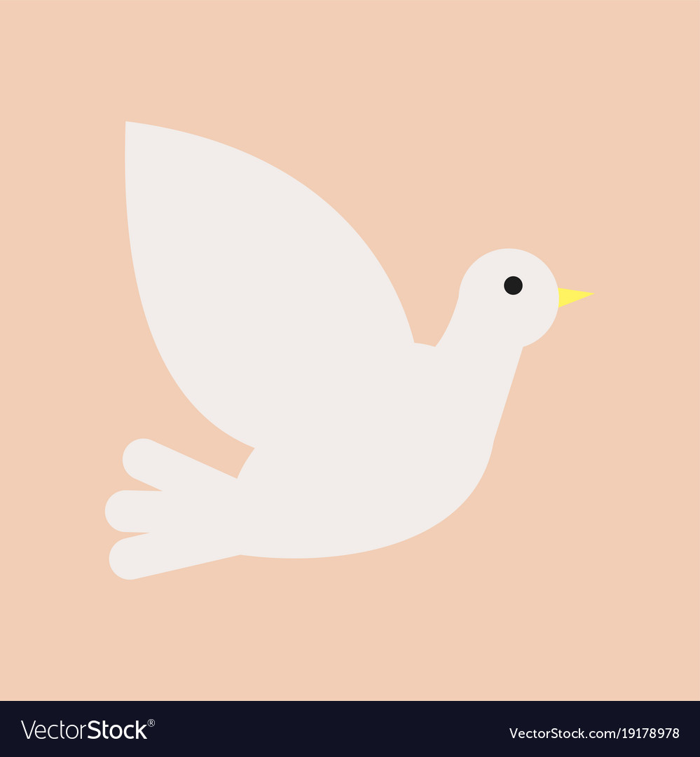 Christian White Dove Symbol Of Holy Spirit And Vector Image