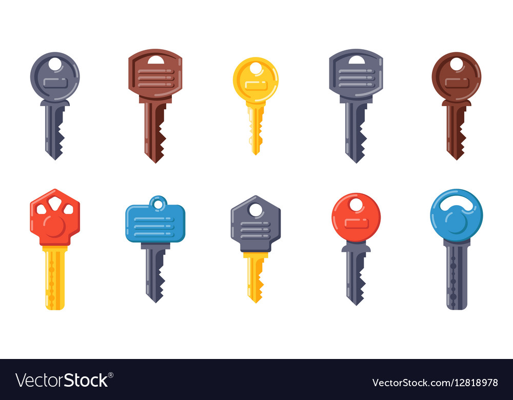 Door security key isolated icon