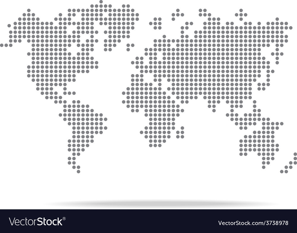 Dot World Map.Dot World Map Isolated On The White Background Vector Image
