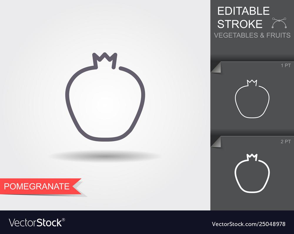 Pomegranate linear icon