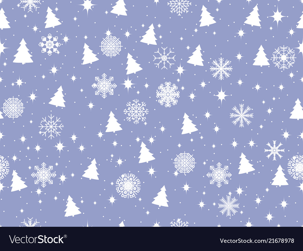 Seamless pattern with christmas trees and