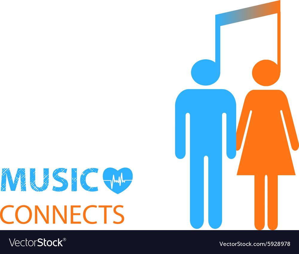 Share - two people listening to the same music