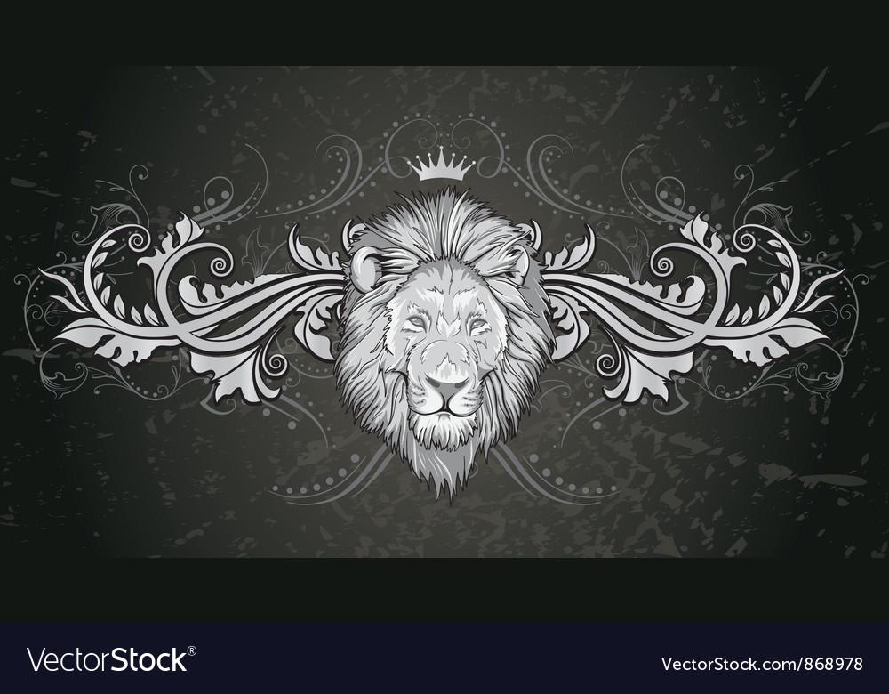 Vintage emblem with grunge background