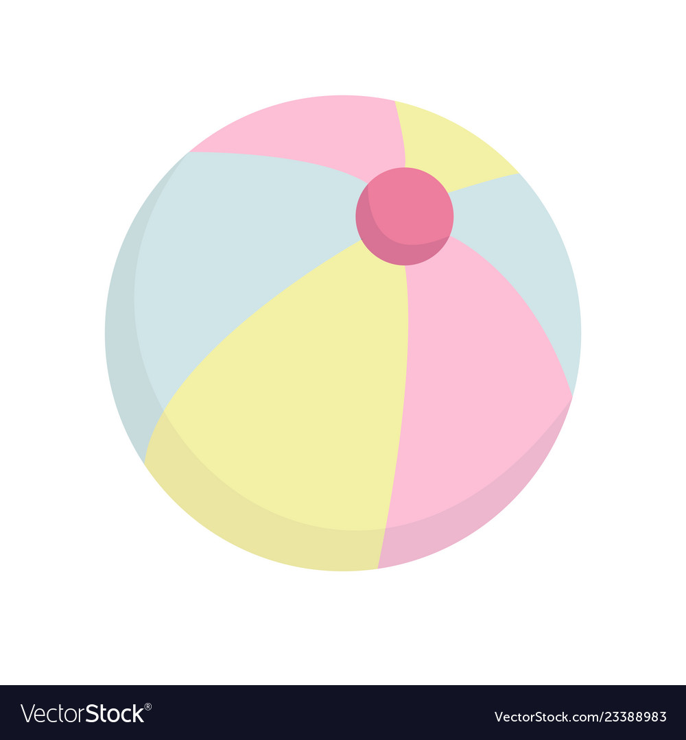 Beach ball icon on white background for graphic