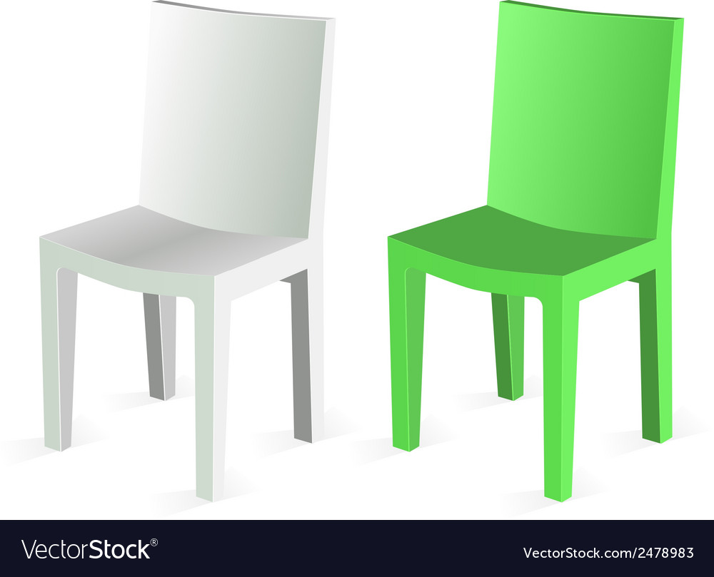 Chair Isolated on white Background vector image