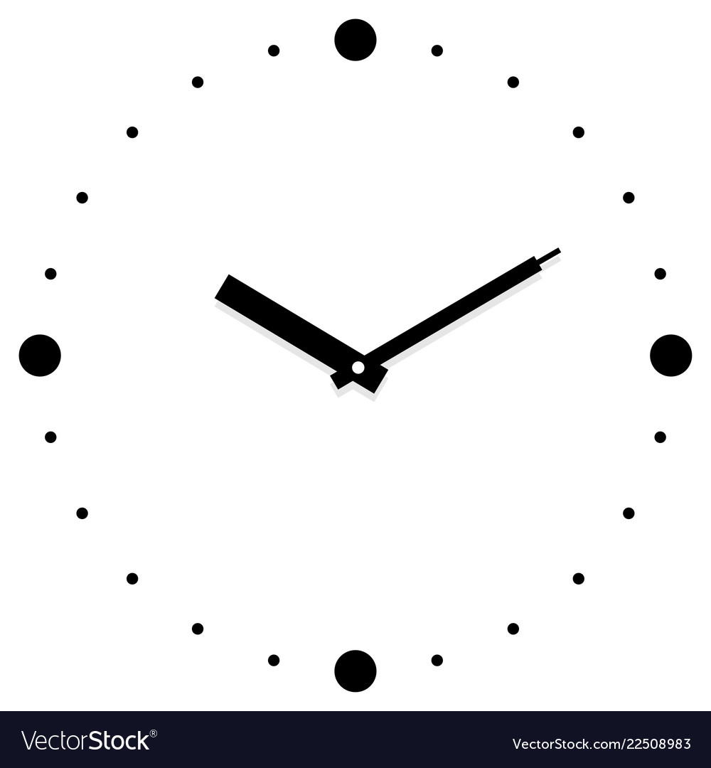 Clock in white background