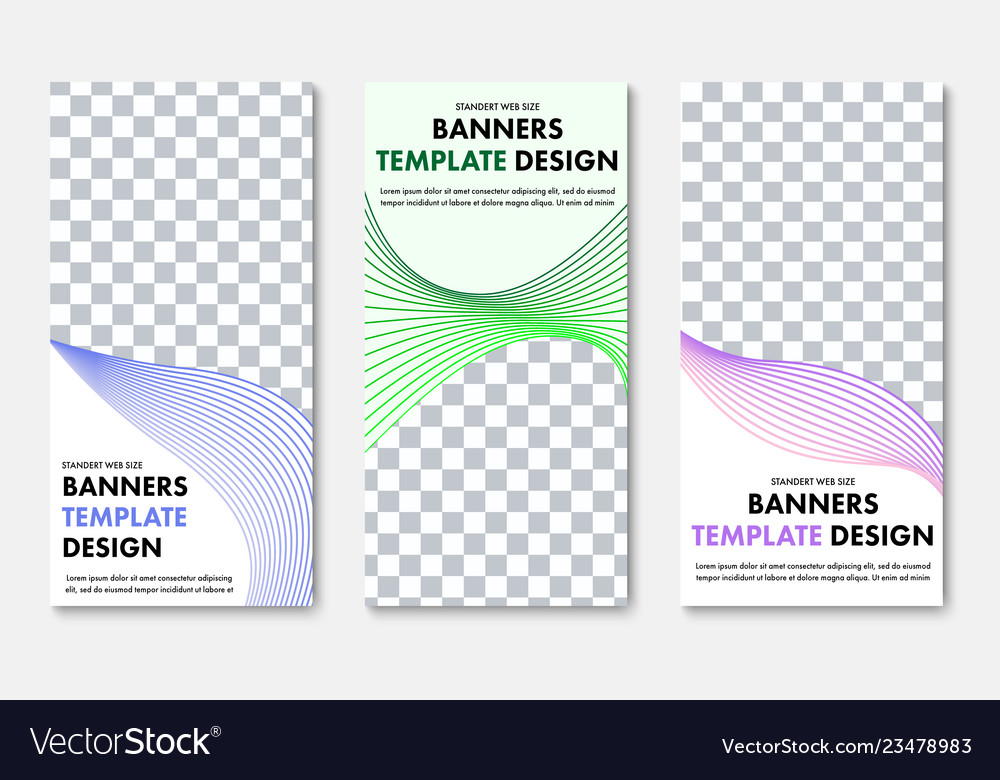 Design of vertical web banners with place for