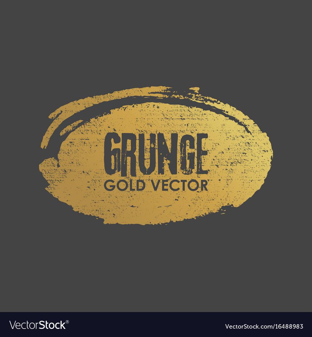 Grunge golden ellipse shape