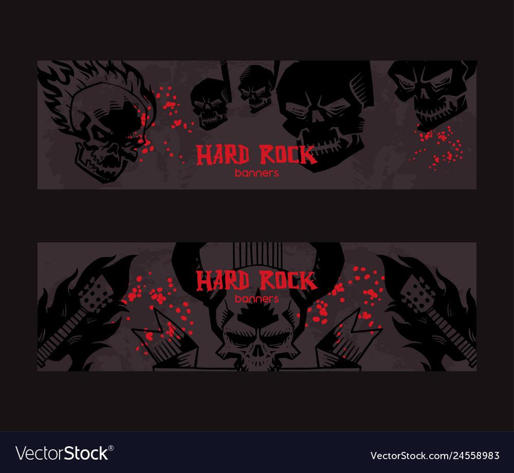 Heavy metal pattern rock music design
