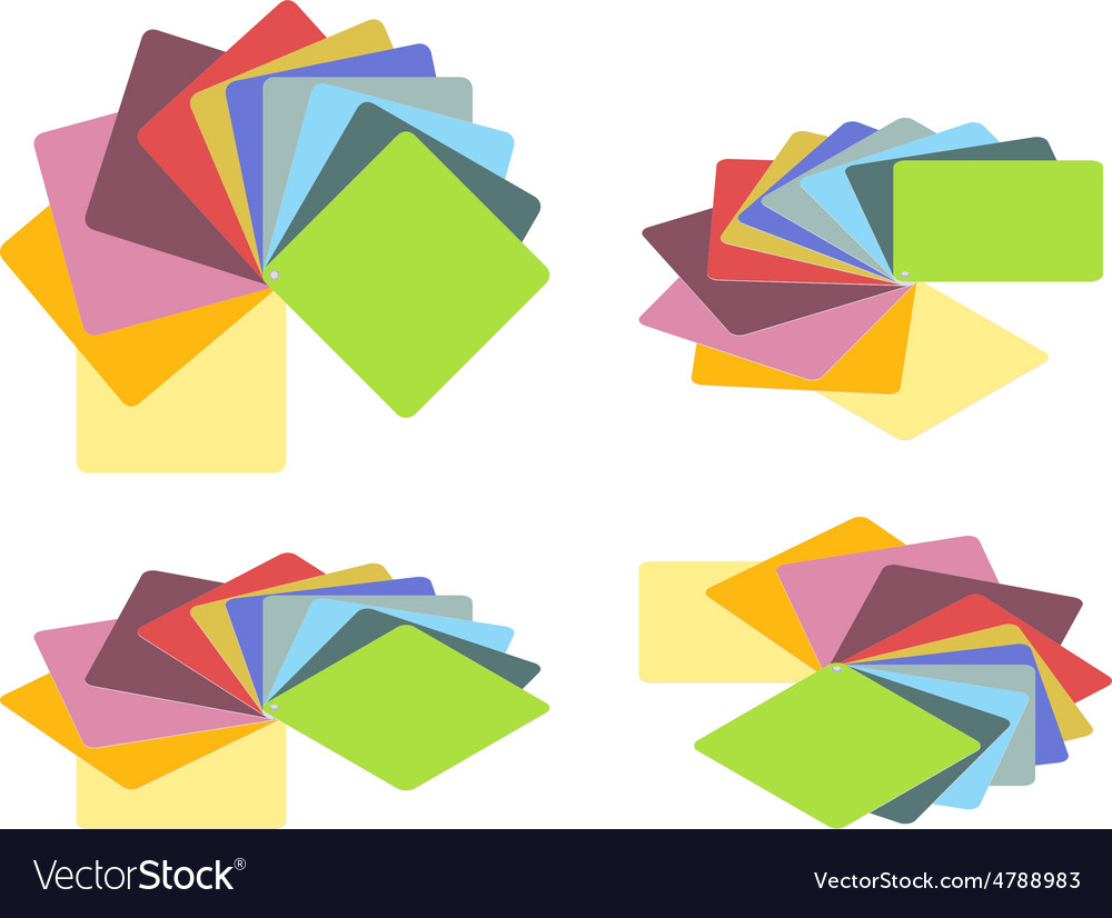Isometric color guide vector image