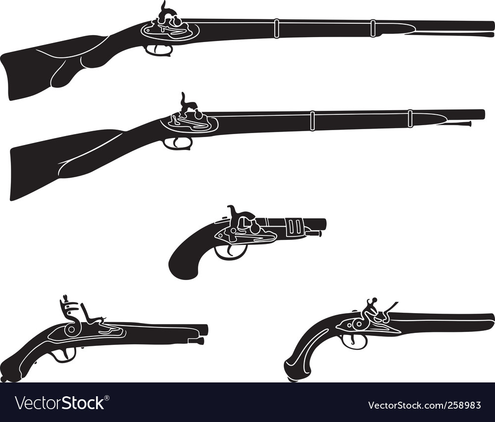 Old guns and pistols