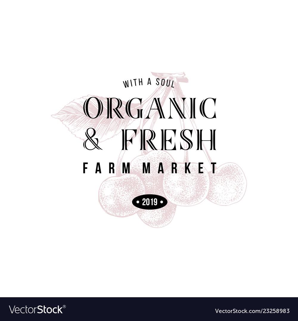 Organic and fresh farm market