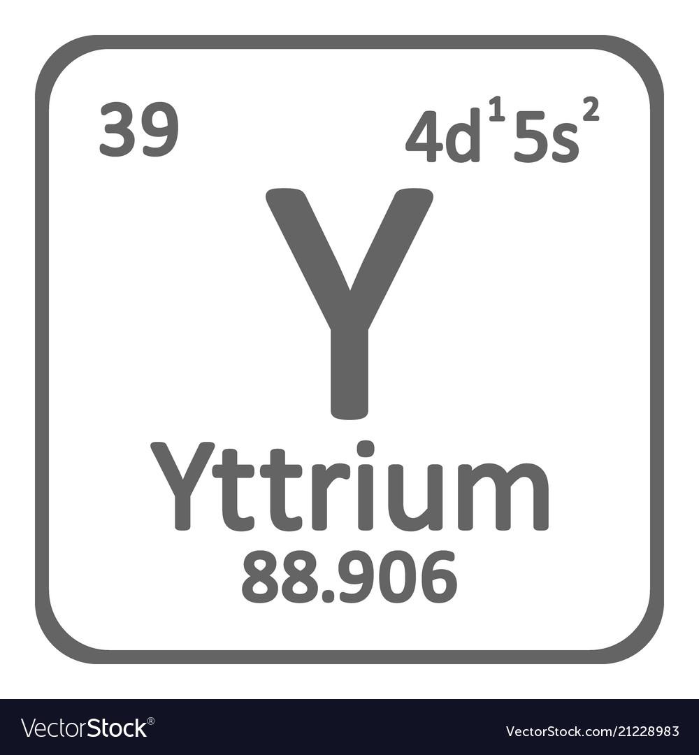 Periodic table element yttrium icon royalty free vector periodic table element yttrium icon vector image urtaz Choice Image