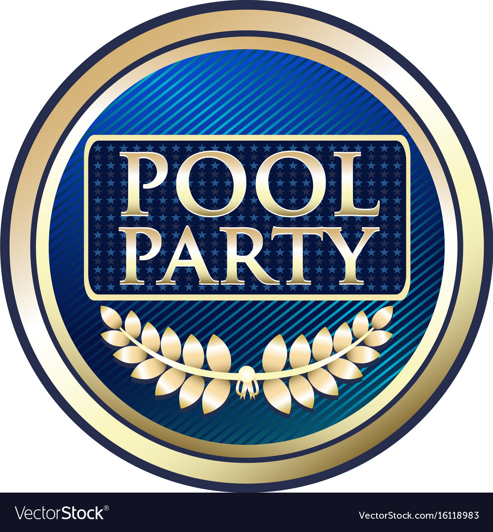 Pool party gold icon