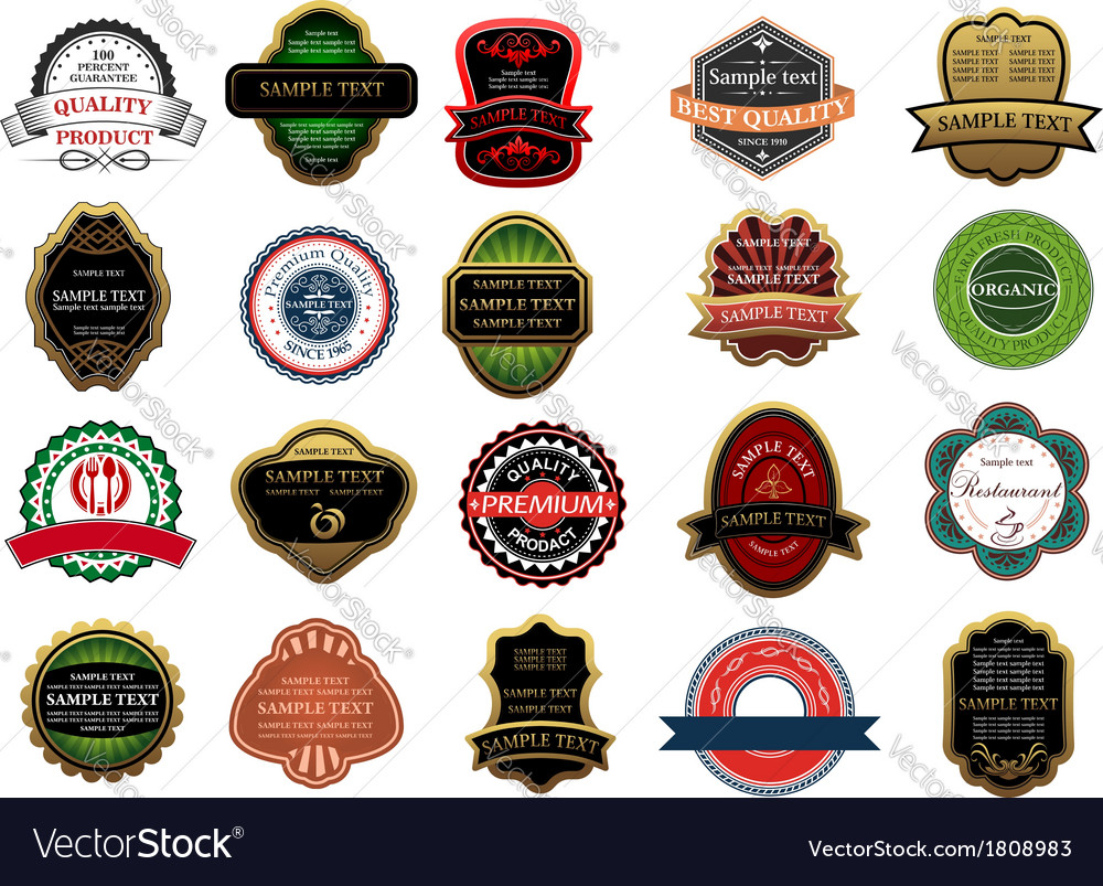 Retail banners badges and labels set