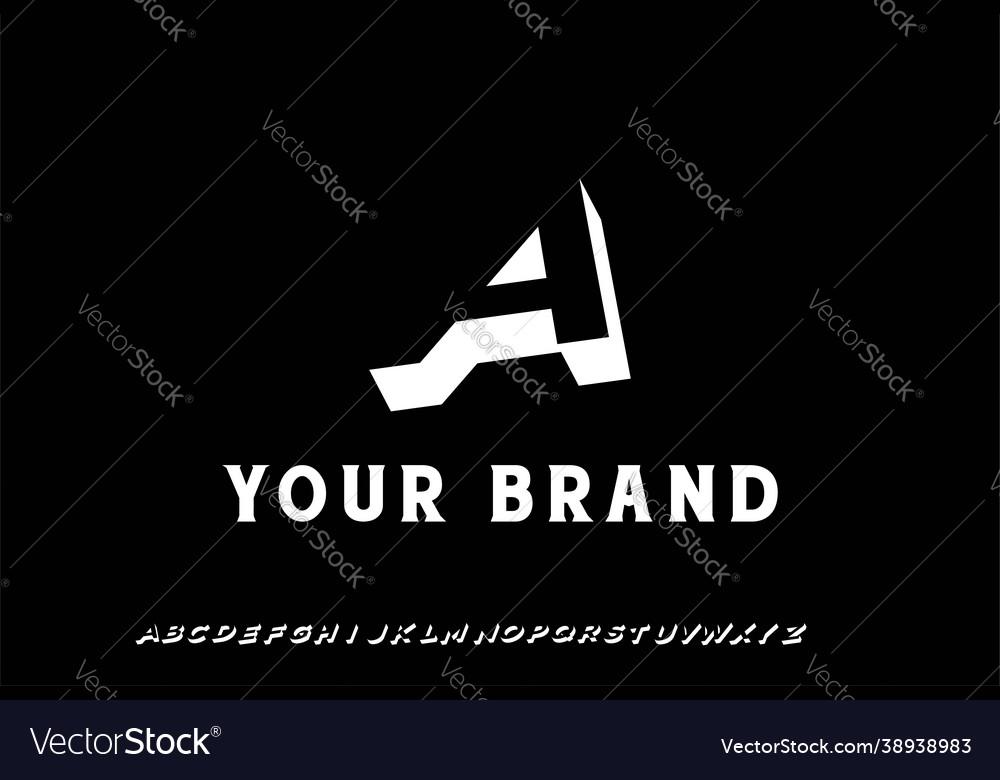 Simple minimalist 3d initial letter