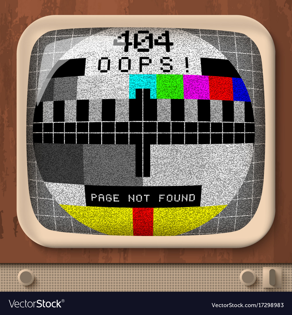 Tv retro signal error template