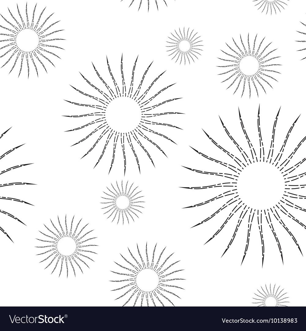Vintage Linear Sunburst Seamless Pattern