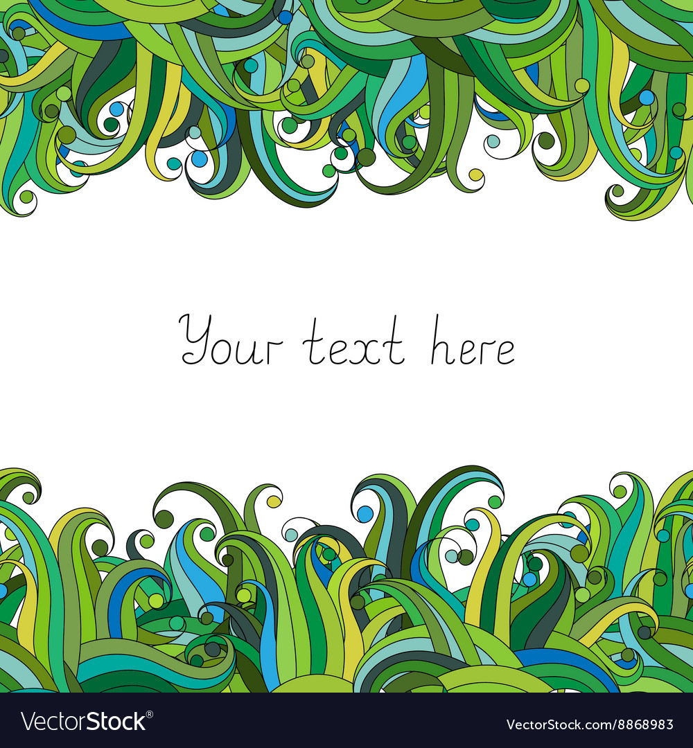 Waves or grass seamless border pattern May be