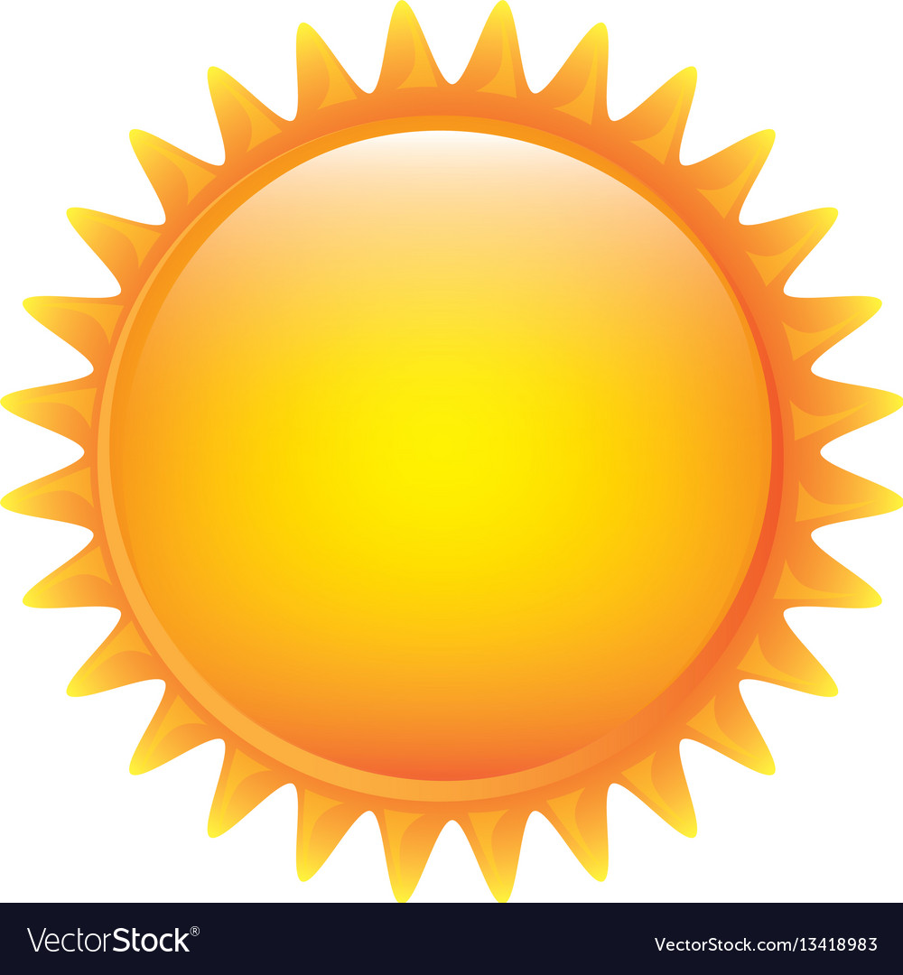 Yellow sticker sun icon