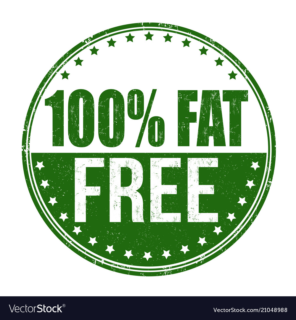 100 fat free grunge rubber stamp vector image