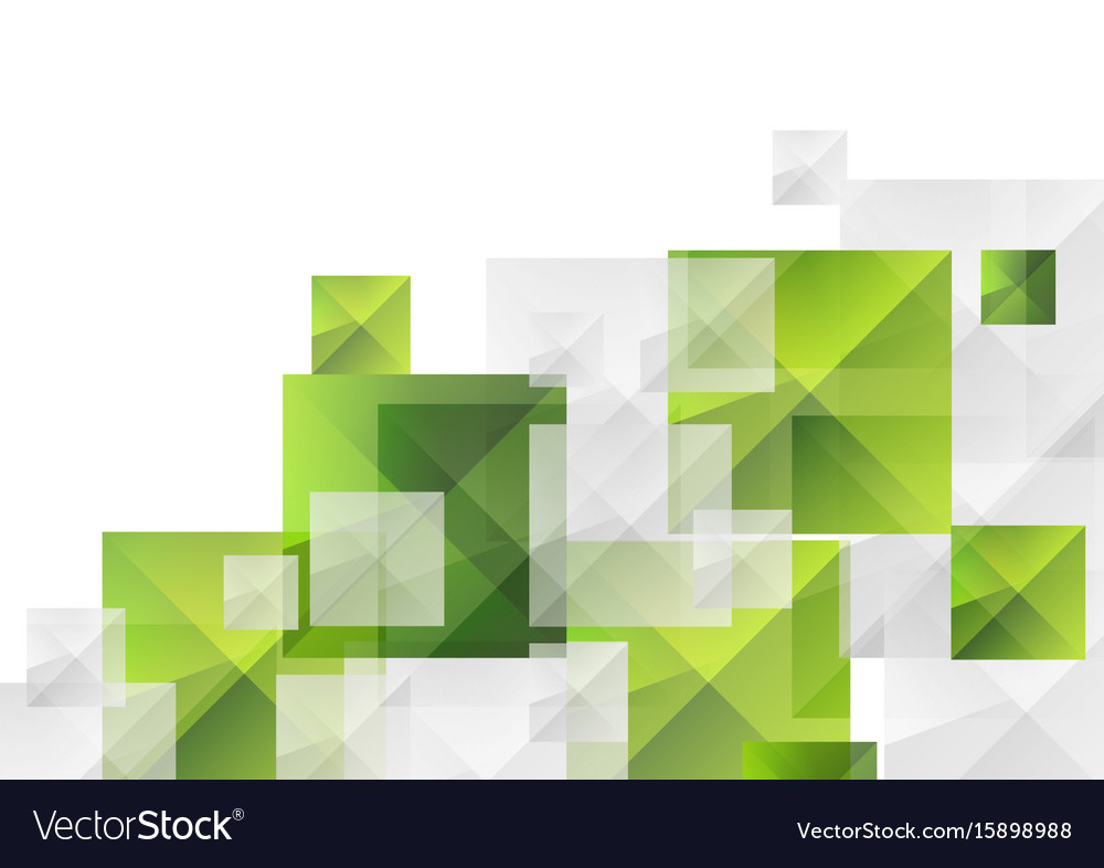 Abstract futuristic technology green grey squares