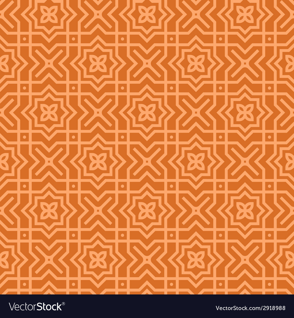 Brown arabic pattern