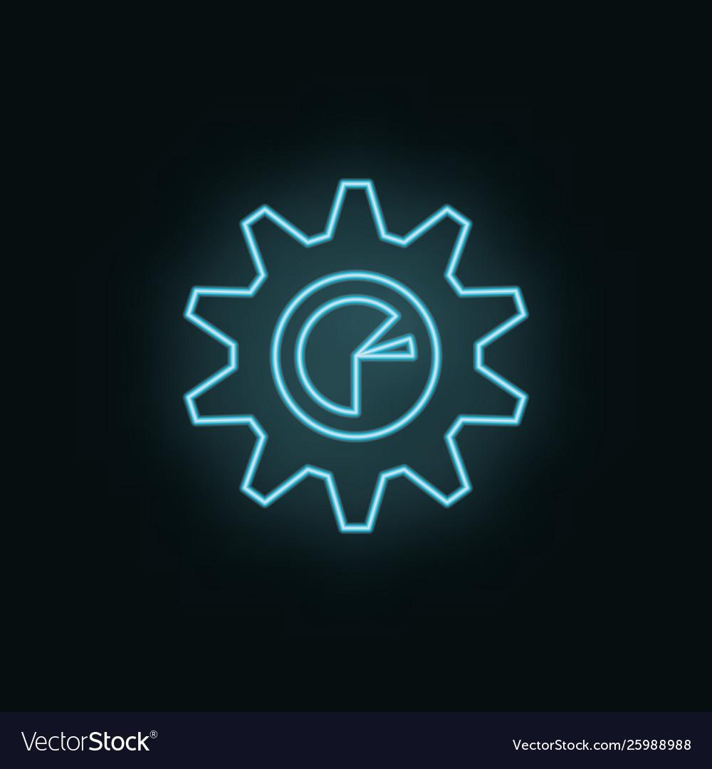 Graphic setting neon icon web development icon