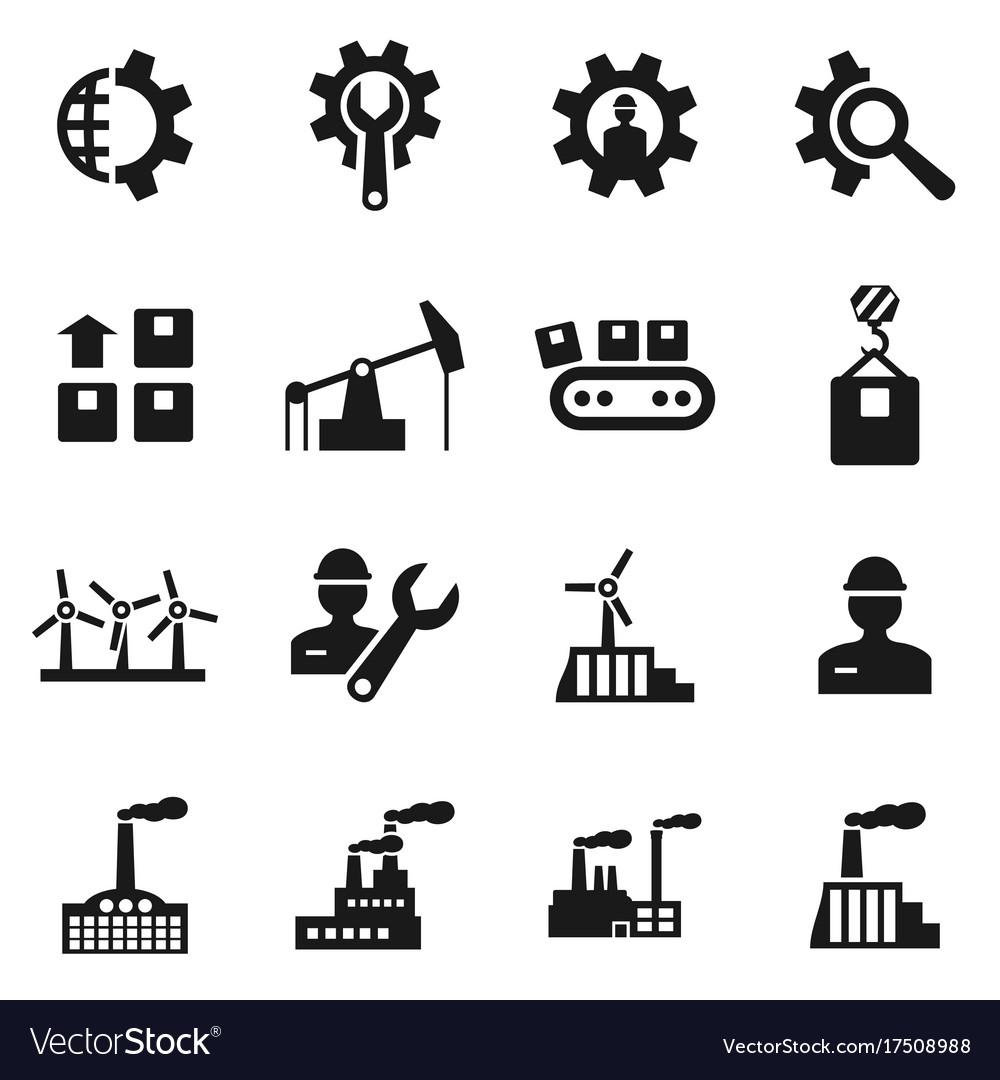 Industrial icon vector image