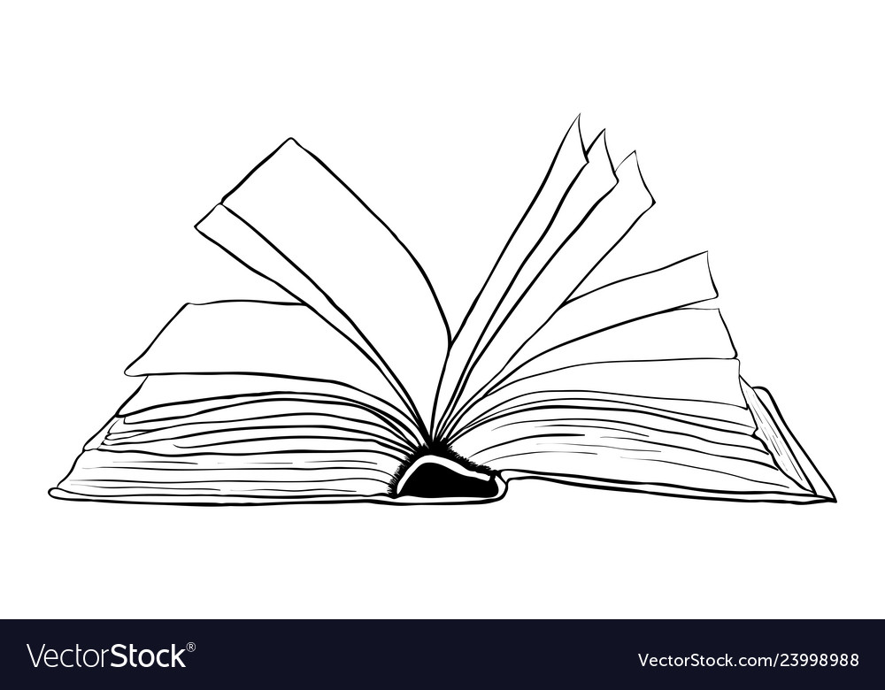 Open book outline symbol icon design beautiful