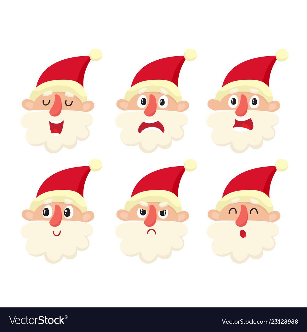 Set of cute santa cartoon
