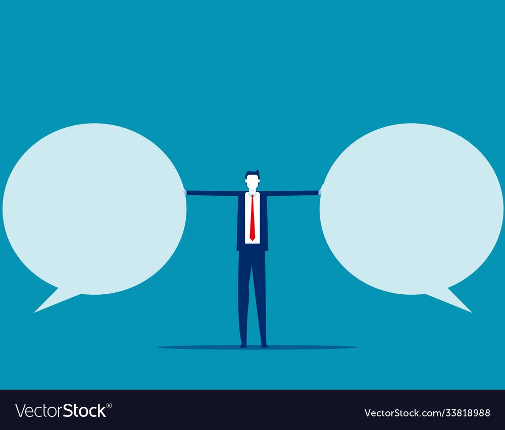 Stop speech bubble business communication flat