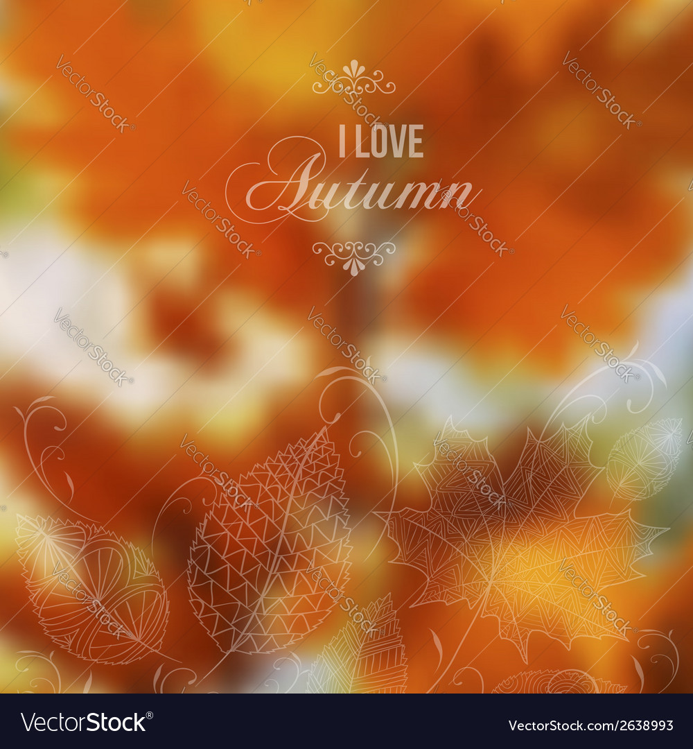Autumn abstract blurred background vector image