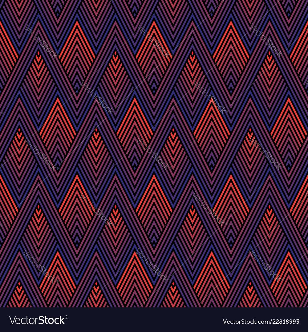 Colorful geometric seamless sports pattern