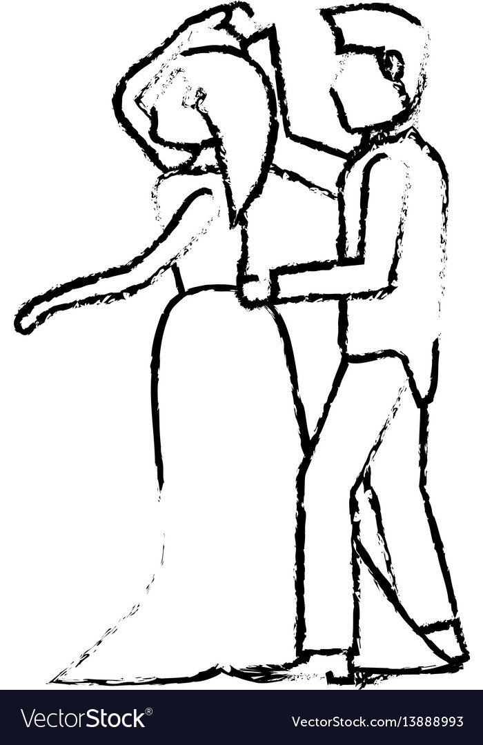 Couple wedding love image sketch