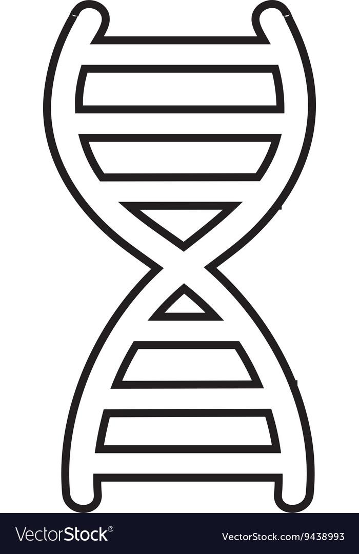Dna molecule symbol isolated icon design