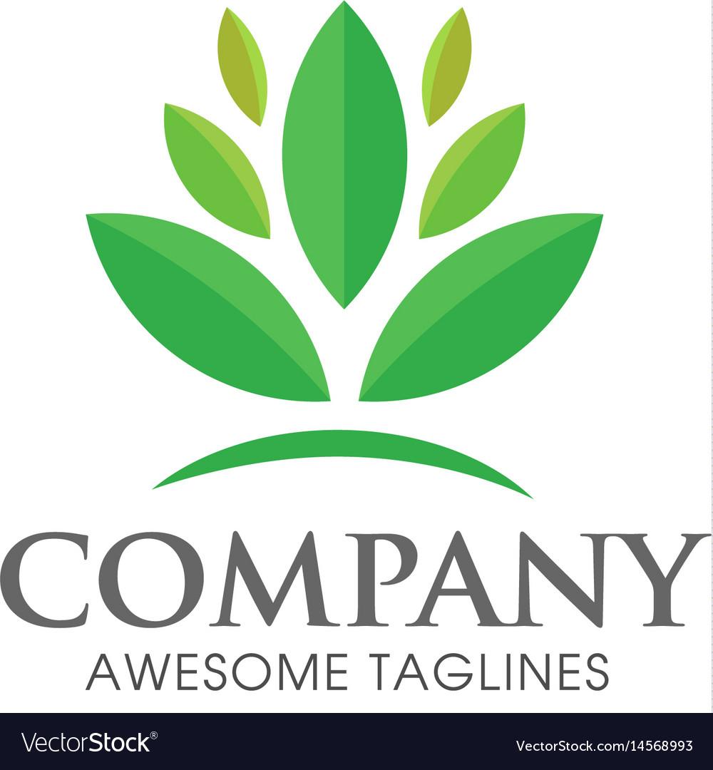 Green leaf ecology logo concept
