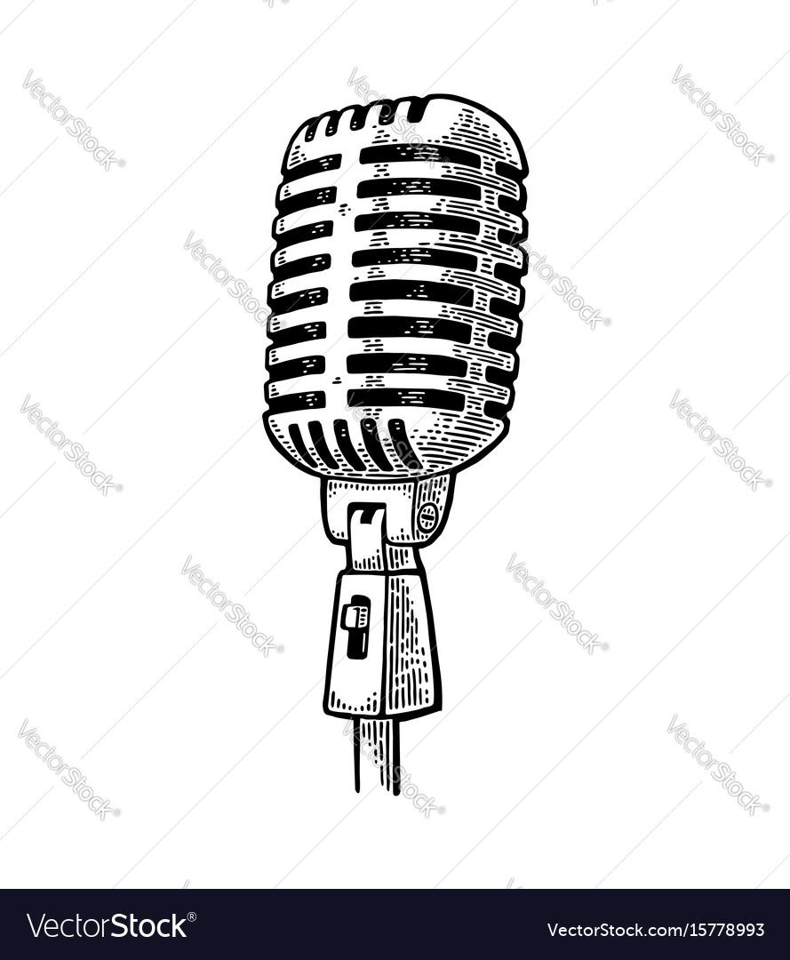 Vintage microphone - Download Free Vectors, Clipart Graphics & Vector Art