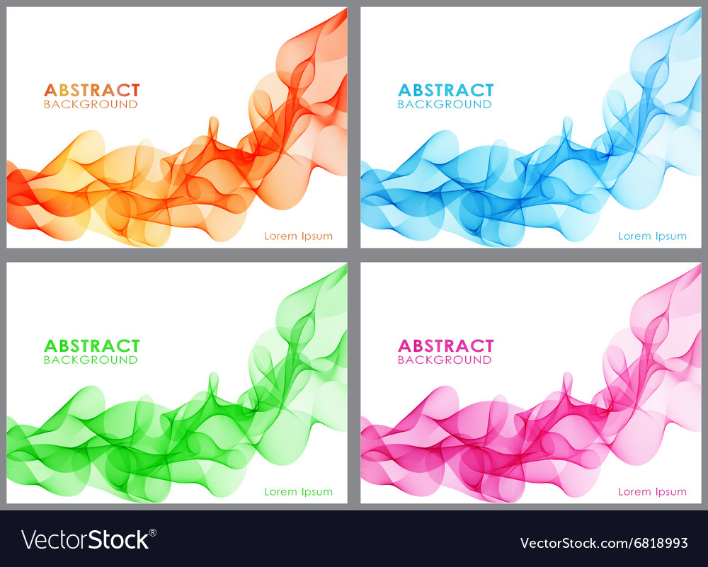 Set of wavy abstract background