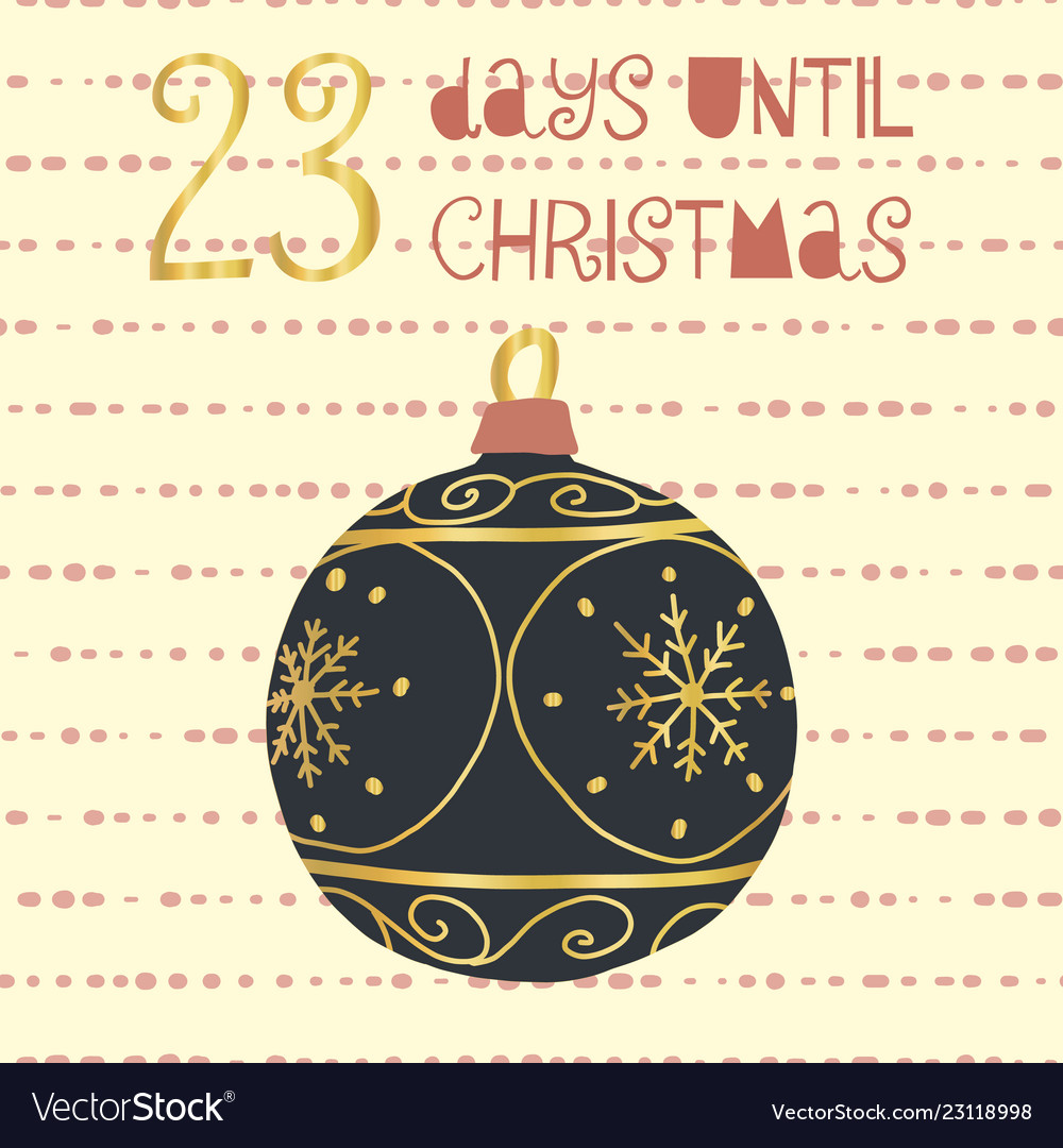 Days Until Christmas.23 Days Until Christmas