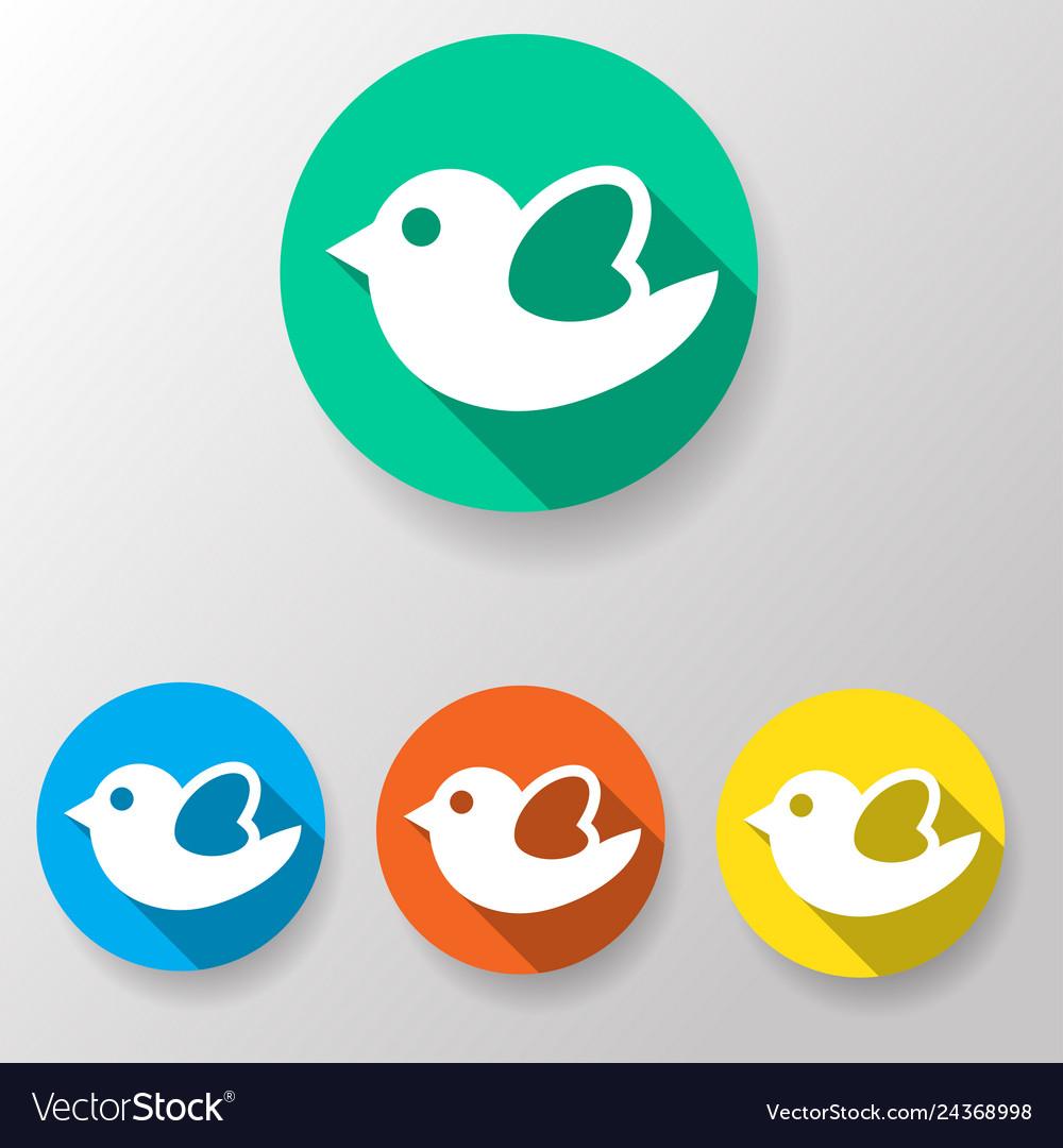 Bird icon flat
