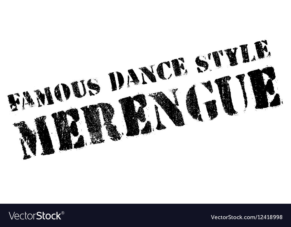 Famous dance style Merengue stamp