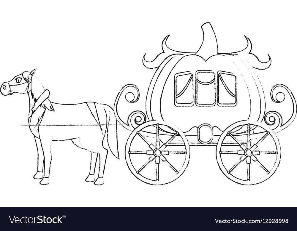Medieval carriage icon