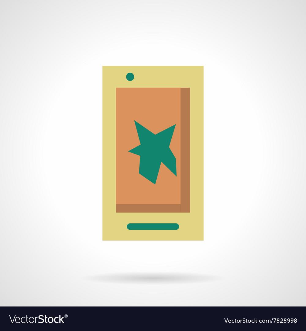Mobile video flat color design icon