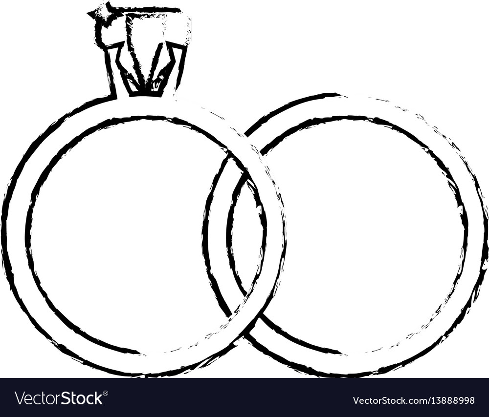 Rings jewelry wedding symbol sketch