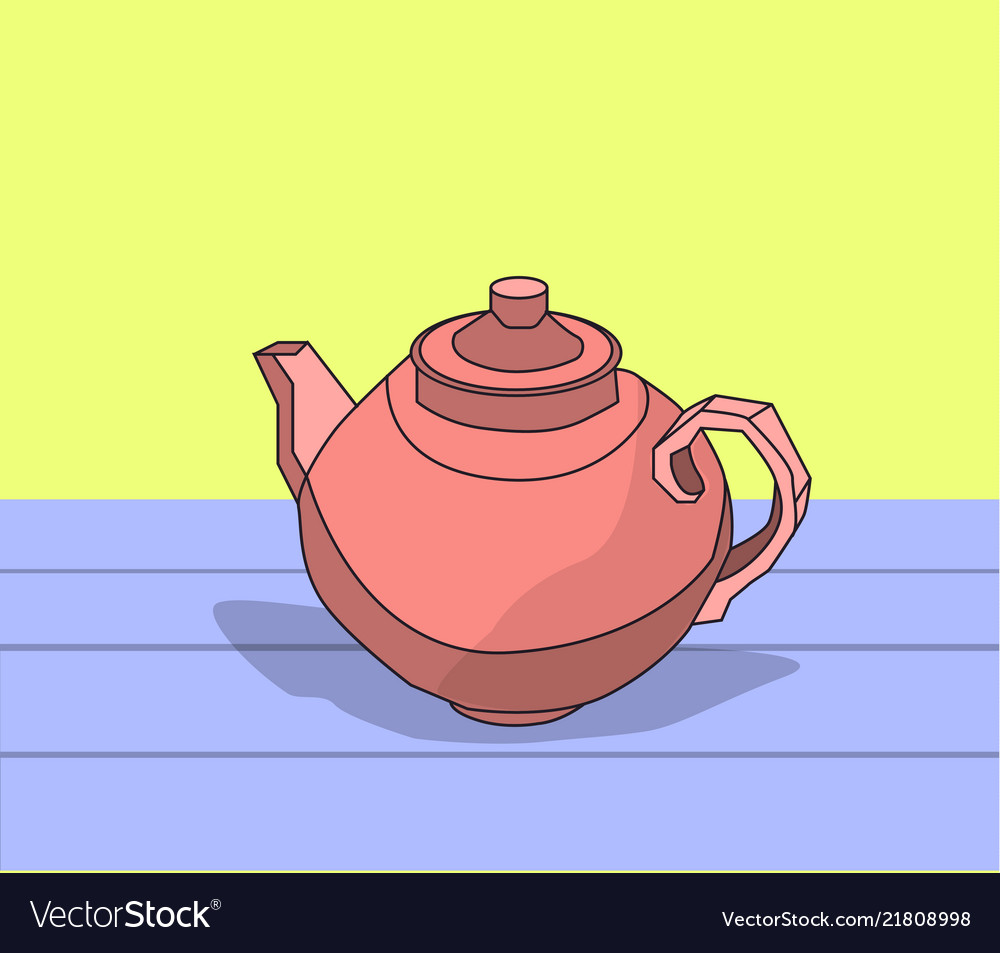 Teapot stands on a table