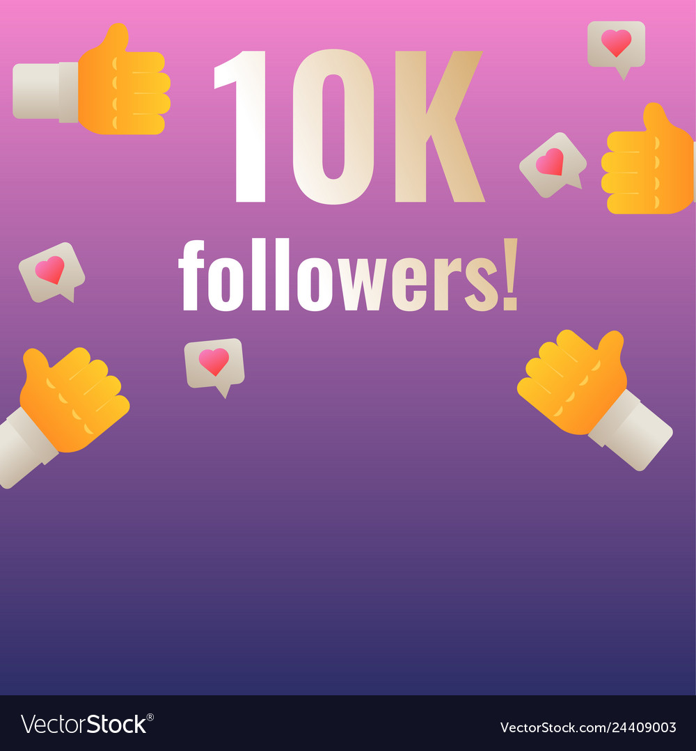 10k followers thank you post banner template for