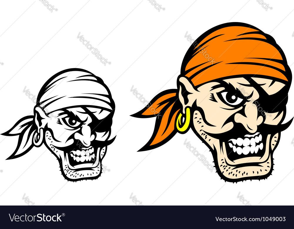 Caribbean danger pirate in cartoon style