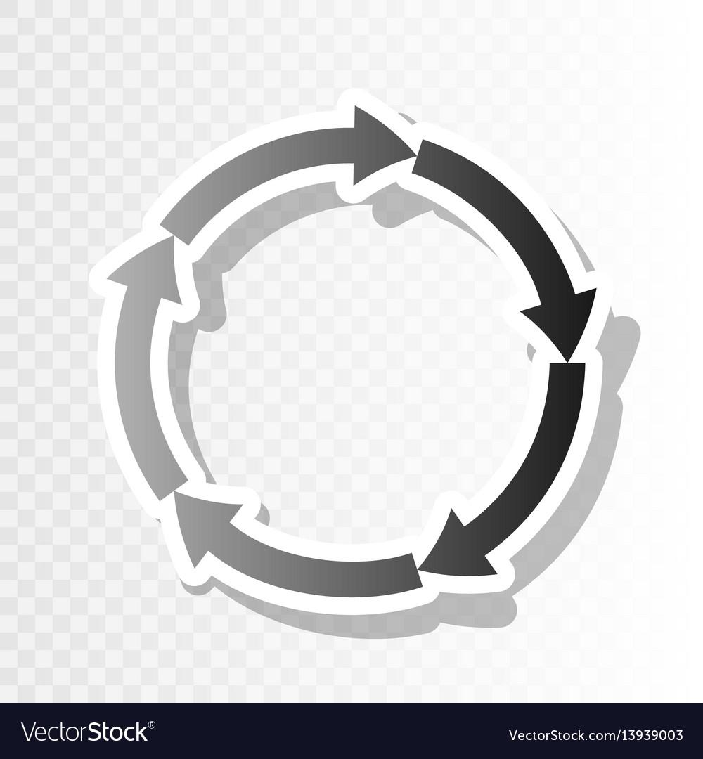 Cirkular arrows sign new year blackish vector image