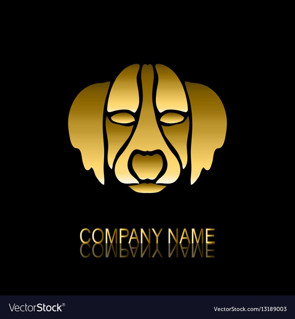 Golden dog symbol